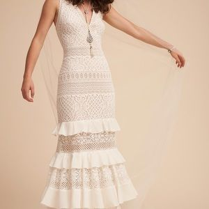Gorgeous boho vintage lace BHLDN gown